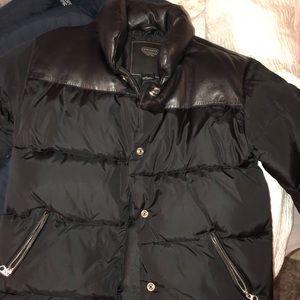Black coach puffer jacket